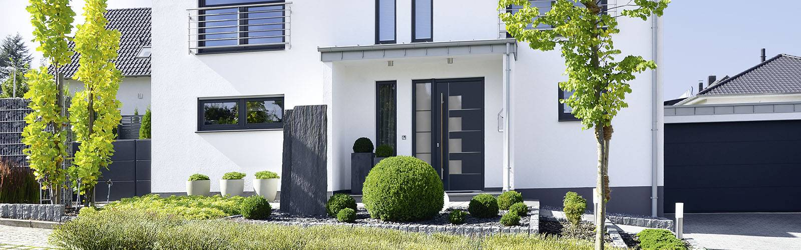 Haustüren anthrazit modern  Porta Fenster - Bauelemente & mehr :: Haustüren